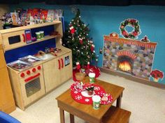 Christmas Dramatic Play For Pre K Or Kindergarten Aistear Ideas Dramatic Play Themes, Dramatic Play Area, Dramatic Play Centers, Preschool Dramatic Play, Preschool Christmas, Christmas Activities, Christmas Themes, Indoor Activities, Preschool Rooms