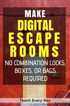 How To Make Any Worksheet Into an Escape Room in the Classroom - Teach Every Day - General School Ideas - New education Classroom Games, Classroom Management, Google Classroom, Classroom Ideas, Project Management, Classroom Inspiration, Classroom Resources, Escape Room Puzzles, Room Escape Games
