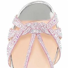Christian Louboutin Lady strass Flat Sandals Silver