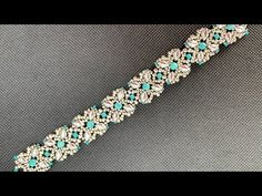 & Turquoise Beaded Bracelet 💎 Silver & Turquoise Beaded Bracelet 💎 Silver & Turquoise Beaded Bracelet 💎 Tutorials on how to make with and Vintage Phoenix Bird Chip Inlay Necklace Passion Bracelet 💖 Beaded Bracelets Tutorial, Beaded Bracelet Patterns, Handmade Bracelets, Diy Bracelet, Earrings Handmade, Making Bracelets With Beads, Silver Bracelets, Bead Jewellery, Turquoise Beads