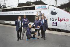 #TGV #Lyria à Zurich en 2014 : TGV Lyria transporteur officiel de la FFA et #megamark réalise le #décor ! http://wwww.megamark.fr