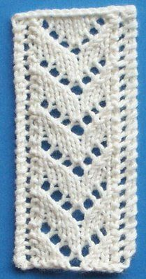 1884 Knitted Lace Sample Book: 14. Another Insertion