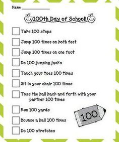 Get your kiddos up and moving during your 100th day of school celebration with this fun activity from first grade teacher, Ms. V! If you can, head to the gym so that your kiddos can spread out. If...