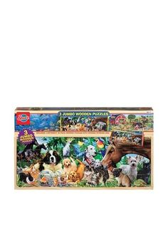 33% OFF T.S. Shure Animals Jumbo Wooden Boxed Puzzles