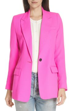 Shop a great selection of Smythe Wool Blazer. Find new offer and Similar products for Smythe Wool Blazer. Neutral Outfit, Ribbed Cardigan, Leather Mini Skirts, Colourful Outfits, Plus Size Blouses, Colored Blazer, Street Style, Clothes For Women, Wool