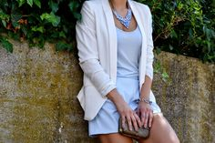 www.blonde-concept.com Blazer by H&M, Jumpsuit by Zara, Necklace by MTC, Box Clutch by Religión #fashionblogger