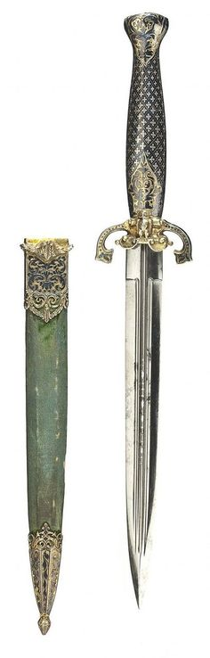 Silver-Mounted Dagger.       Dated: circa 1840.     Culture: French. Copyright © 2013 Peter Finer