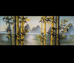 Bamboo Painting Huge Modern Contemporary Abstract Oil Painting on ...