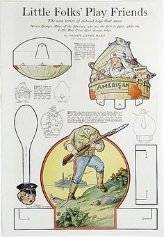 1920s Paper Doll * Little Folks' Play Friends by Henry Anson Hart * Large Full Color Cut-Out page Ladie's Home Journal?