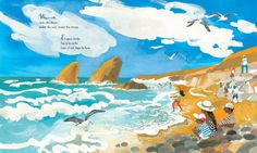 Water Rolls, Water Rises/ el agua rueda, el agua sube a poetic ode to the beauty of the natural world illustrated by Meilo So and written by Pat Mora published by Lee & Low Books. Under The Moon, Illustrations And Posters, Natural World, Childrens Books, Illustrators, Rolls, Water, Pictures, Painting