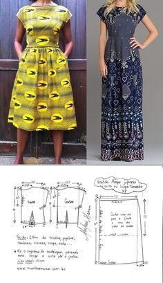 Maxi Dress Sewing PDF Pattern - Womens Maxi Dress Pattern - Maxi Dress patterns for Women Formal Dress Patterns, Dress Sewing Patterns, Sewing Patterns Free, Clothing Patterns, Sewing Ideas, Fashion Sewing, Diy Fashion, Sewing Clothes, Diy Clothes