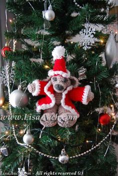 He is the most adorable thing ever on our tree! So easy to #corchet too! Christmas Crochet Patterns - Toy crochet patterns