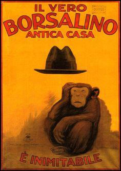 Borsalino 1921 Italian Men's Fashion Antica Casa Vintage Poster Retro Art Print Fashion Advertisement Free US Post Low European Post by CharmCityPosters on Etsy