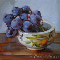 DPW Fine Art Friendly Auctions - A Bowl of Grapes by Elena Katsyura