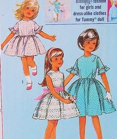 Dress for Girl and Her Fashion Doll Vintage