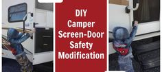 Quick tutorial on how to make things easier and safer for the kids to open a camper screen door.