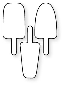Popsicle pattern. Use the printable outline for crafts