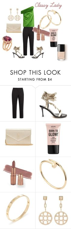 """Right On Trend"" by teez-fashionxc on Polyvore featuring Alexander McQueen, Isabel Marant, Yves Saint Laurent, NYX, Cartier and couture"