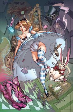 Alice in Wonderland in Comic Style by Jeffrey Scott Campbell