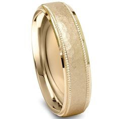 Hammered 6MM Wedding Band 10K Yellow Gold by Pompeii3 on Etsy, $269.99