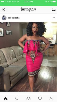 African Inspired Fashion, African Fashion, African Wear, African Outfits, African Style, Style Africain, Strapless Dress, Bodycon Dress, Aso Ebi Styles