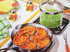 Vintage School Poster Cooking Dinner Food Color by vintagegoodness