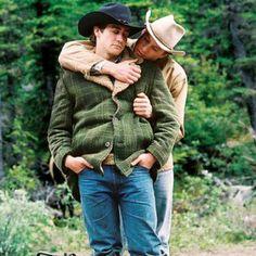 Brokeback Mountain - 2007 - (R) Heath Ledger as Ennis Del Mar, (L) Jake Gyllenhaal Jack Twist. designer: Marit Allen