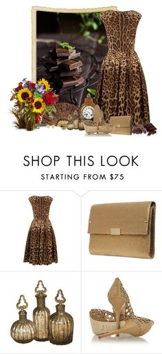 """""""Chocolate Lovers"""" by sil-engler ❤ liked on Polyvore featuring Dolce&Gabbana, Matar, Jimmy Choo and Christian Dior"""
