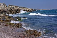 Sea Shore in the Vicinity of Sozopol III(At the Seaside Resort in Bulgaria, Europe)