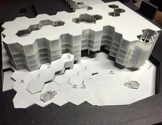 #honeycomb #project #compo2 #unitn #school #hexagon #lasercut #inox #alluminium #plastico #maquette #architecture by massimozeni