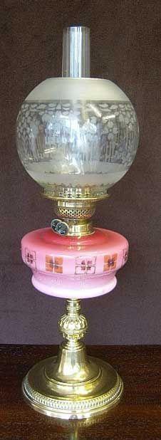 Antique Victorian Oil lamp 444