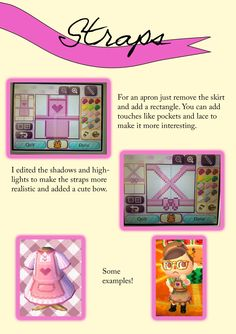 Tuuuuutorial time! This time all about straps so you can make strapped designs until your hearts are content! I apologise for the messy layout- there was a lot of info! Hope it helps :)
