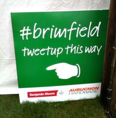 All signs lead to #brimfield tweetup! photo by Julieann Covino