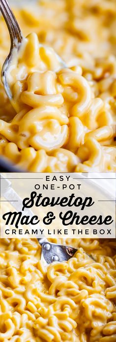 Easy Stovetop Mac and Cheese (One Pot!) from The Food Charlatan. This super creamy Easy Mac and Cheese recipe is made on the stovetop in one pot! You don't need an extra pot to boil the noodles, hallelujah. The recipe is SO cheesy and flavorful. It's got the nostalgic texture of the blue-box mac and cheese, except it's a lot richer. It's done in 30 minutes. It's the recipe you need for a busy weeknight! #easy #recipe #macandcheese #Velveeta #cheddar #cheese #30minutes #stovetop #onepot…