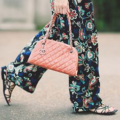 Wide leg floral trousers.