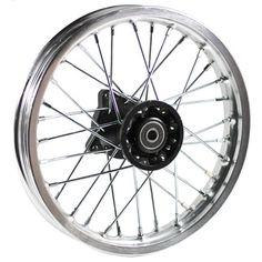 """Chinese Dirt Bike Rim and Spoke Kit - 10"""" x 1.4"""" Silver 32 Spokes"""