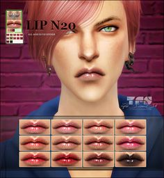 Sims 4 CC's - The Best: Lips by Tifa