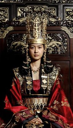 """Seondeok was the greatest queen in Korean history and the first to rule in her own right. She ascended the throne of Silla, one of the three kingdoms of ancient Korea, in 632. She sponsored the arts, sciences, and Buddhist scholarship.  The period was also full of wars and male resentment of """"women rulers,"""" but Seondeok held the kingdom together, and upon her death the crown passed peacefully to her chosen successor, her cousin Queen Jindeok."""