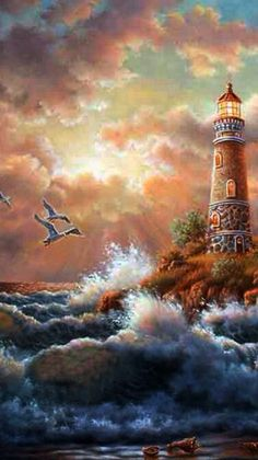 ♥ Stormy Seas; Battered Skies; Roaring Waves; Seagulls' Cries~ C.C.Crystal~♥