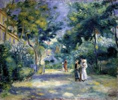 A Garden in Montmarte | Pierre-Auguste Renoir | 1890s | oil on canvas | Oxford University, Ashmolean Museum | Item #: A622