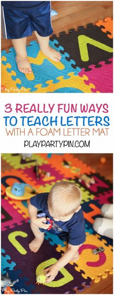 These three fun ways to teach letters are absolutely perfect for teaching toddlers their letters in a really fun way. Especially love the E is for exercise game!
