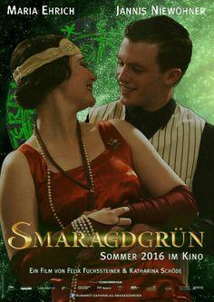 Maria Ehrich et Jannis Niewohner dans les rôles de Gwendolyn et Gidéon dans le film Vert émeraude (Smaragdgrün)
