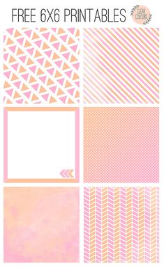 clear colours: 6x6 Free Printables