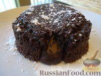 """Фото к рецепту: Шоколадное пирожное """"Лава"""" (Chocolate Lava cake)"""