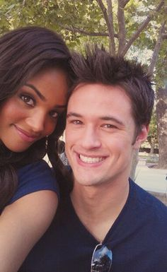 Matthew Atkinson and Meagan Tandy - Gorgeous young interracial couple #love #wmbw #bwwm