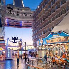 Allure of the Seas -- The Boardwalk, probably my favorite area on the ship, includes an ice cream parlor, candy shop, merry-go-round, Johnny Rocket's, and Rita's Cantina.  So quaint and reminded me of Downtown Disney!