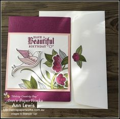 So which is my favourite product from Stampin' Up!'s brand new 2018-19 Annual Catalogue? What an impossible question but for June's Global Stampers Blog Hop Challenge, I chose to feature the Serene Garden Stamp Set and coordinating Garden Scene Framelits Dies to create a gorgeous feminine birthday card. Check it out.