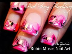 No Water Needed - Marble Nail Art Design Tutorial - YouTube