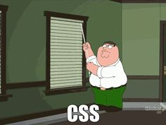 CSS illustrated by Peter Griffin of Family Guy
