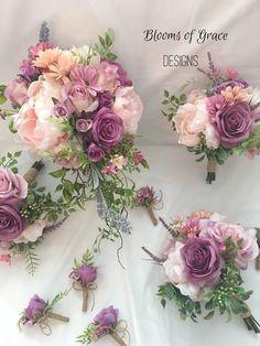 Mauve wedding bouquet, lavender bride bouquet, cascade, wild flower bouquet – Wedding For My Life Mauve Wedding, Fall Wedding Flowers, Flower Bouquet Wedding, Wedding Colors, Wedding Day, Farm Wedding, Bride Bouquets, Bridesmaid Bouquet, Bouquet Toss